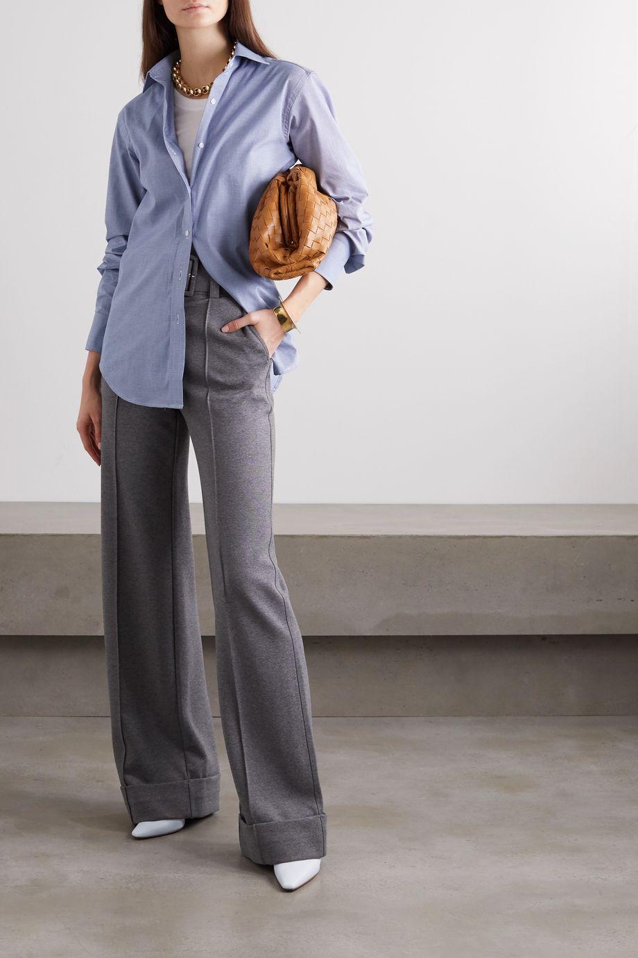 Emma Willis + NET SUSTAIN houndstooth brushed-cotton shirt