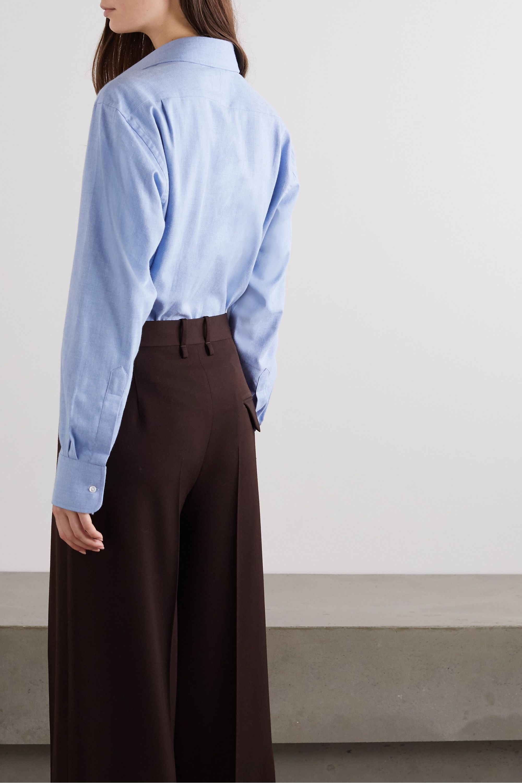 Emma Willis + NET SUSTAIN Sky brushed-cotton shirt
