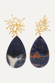 Pacharee + Pach Tach gold-plated sodalite earrings