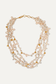 Pacharee + Pach Tach gold-plated pearl necklace