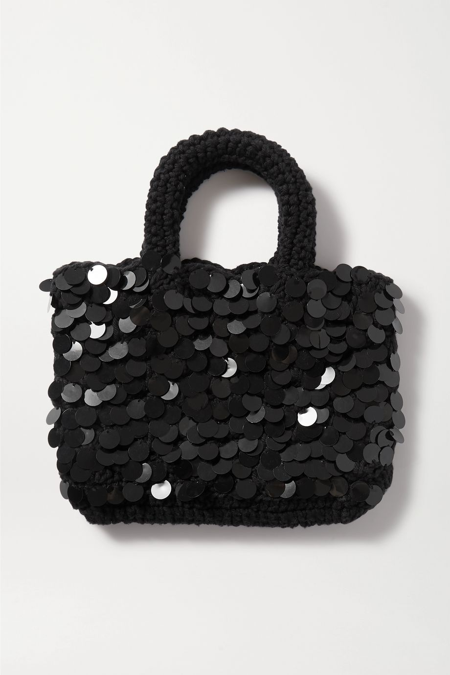 Nannacay + NET SUSTAIN Bonsai mini sequin-embellished macramé tote