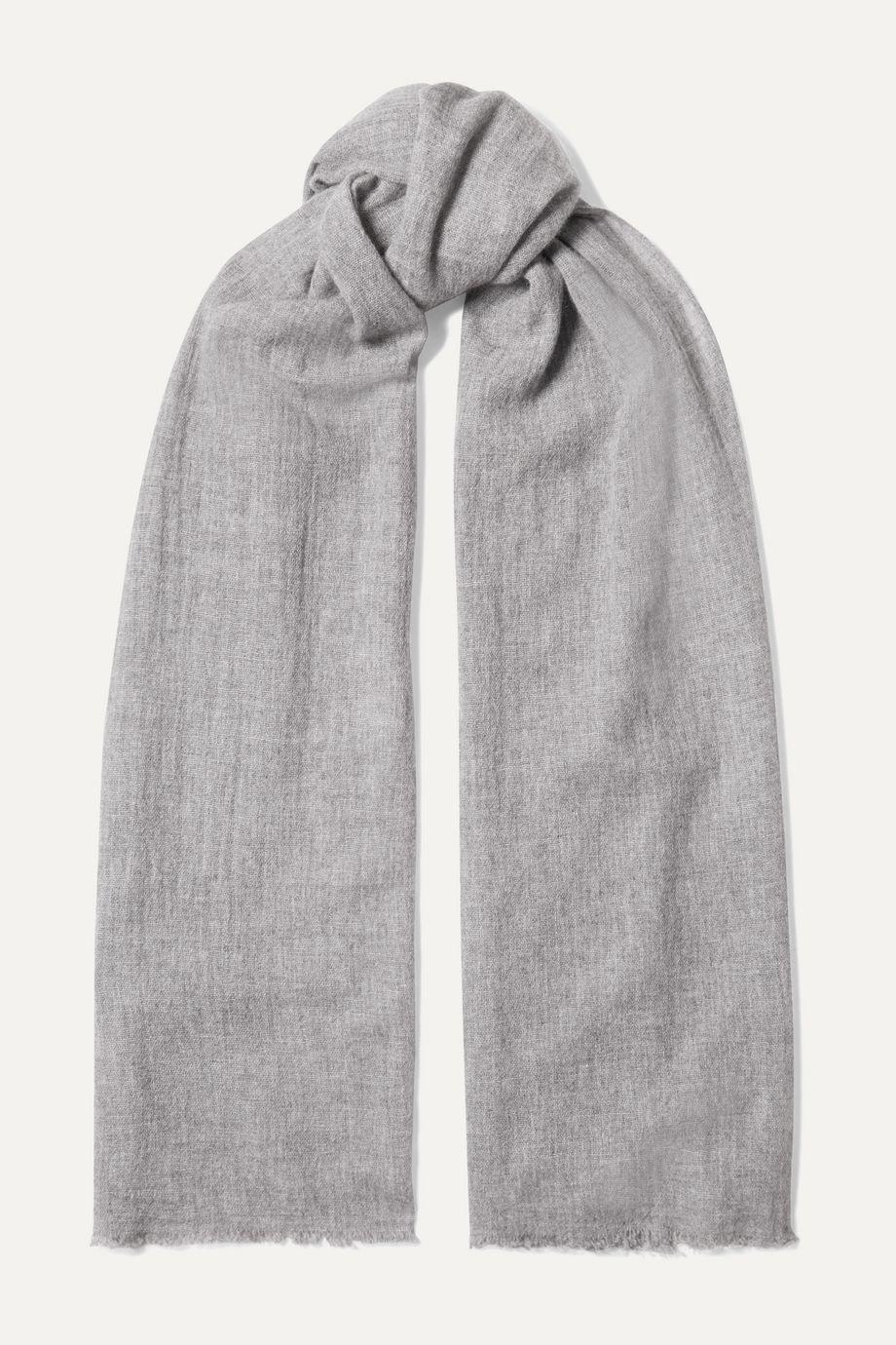 Portolano Fringed cashmere scarf