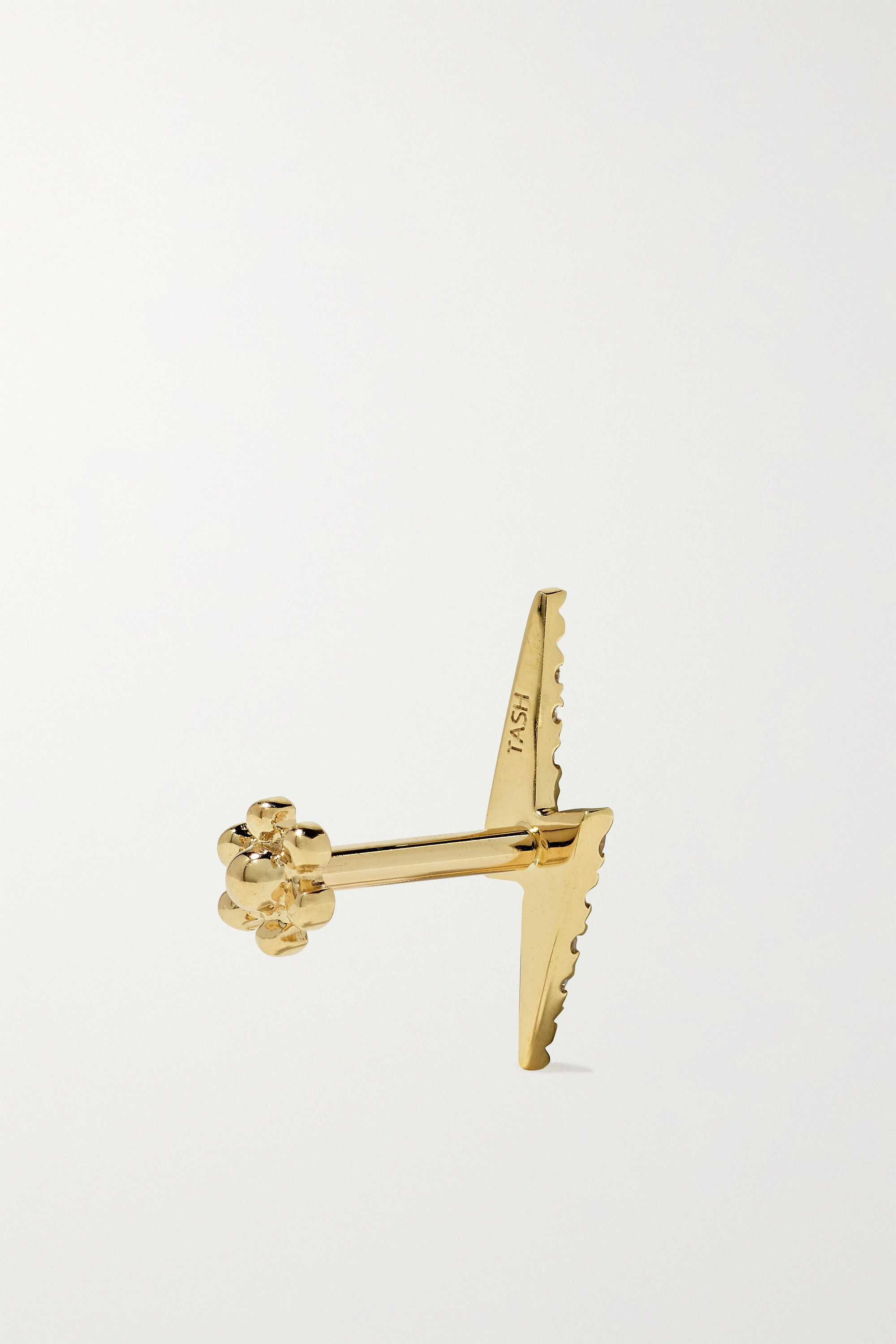 Maria Tash Lightning Bolt 18-karat gold diamond earring