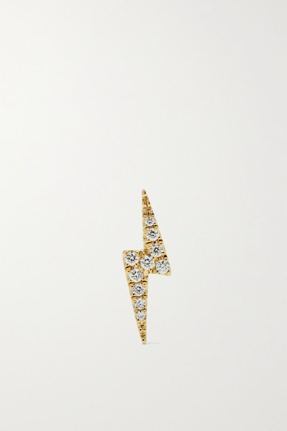 Maria Tash Boucle d'oreille en or 18 carats et diamants Lightning Bolt