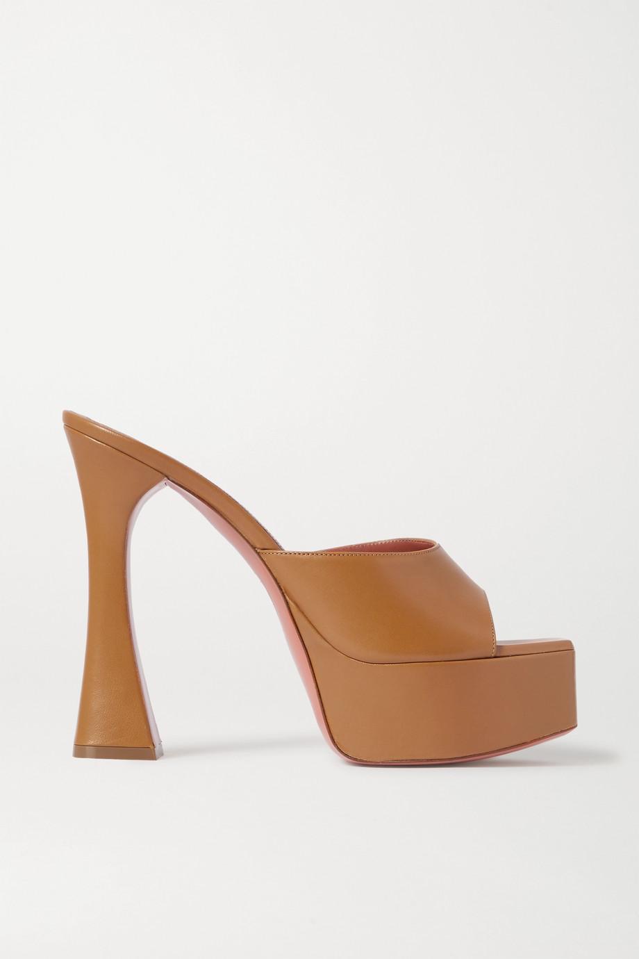 Amina Muaddi Mules plates-formes en cuir Dalida
