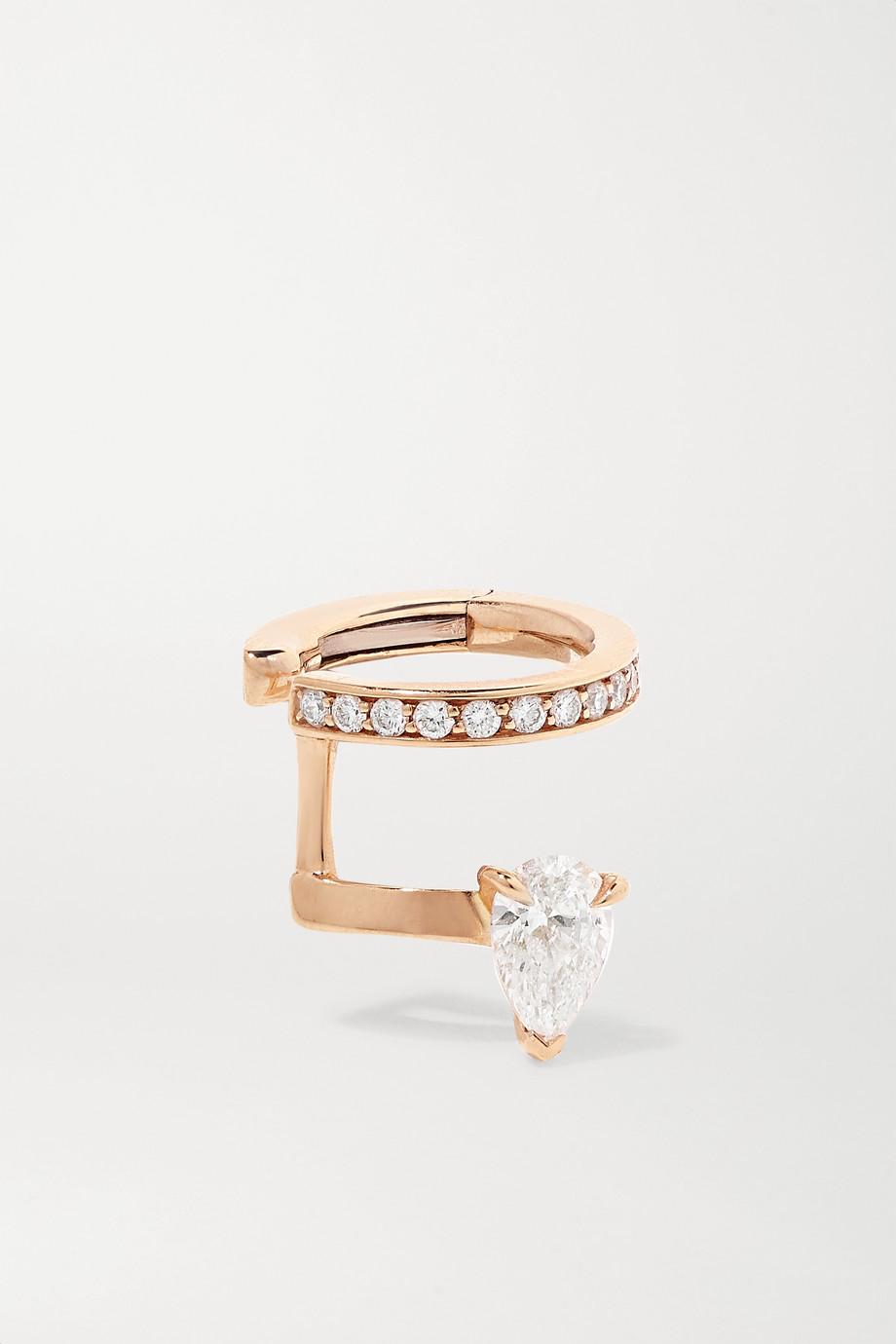 Repossi Serti Sur Vide 18-karat rose gold diamond ear cuff