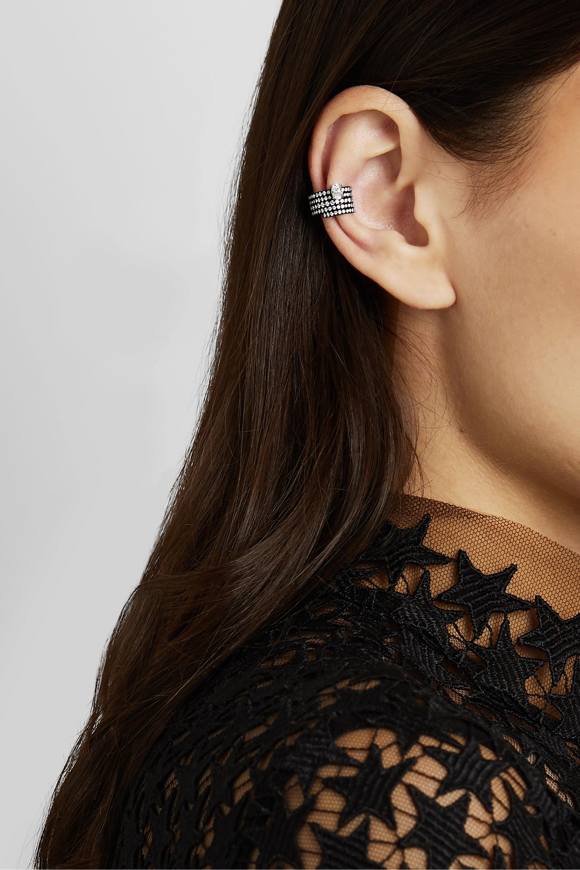 Repossi Bijou d'oreille en or 18 carats noirci et diamants Blast