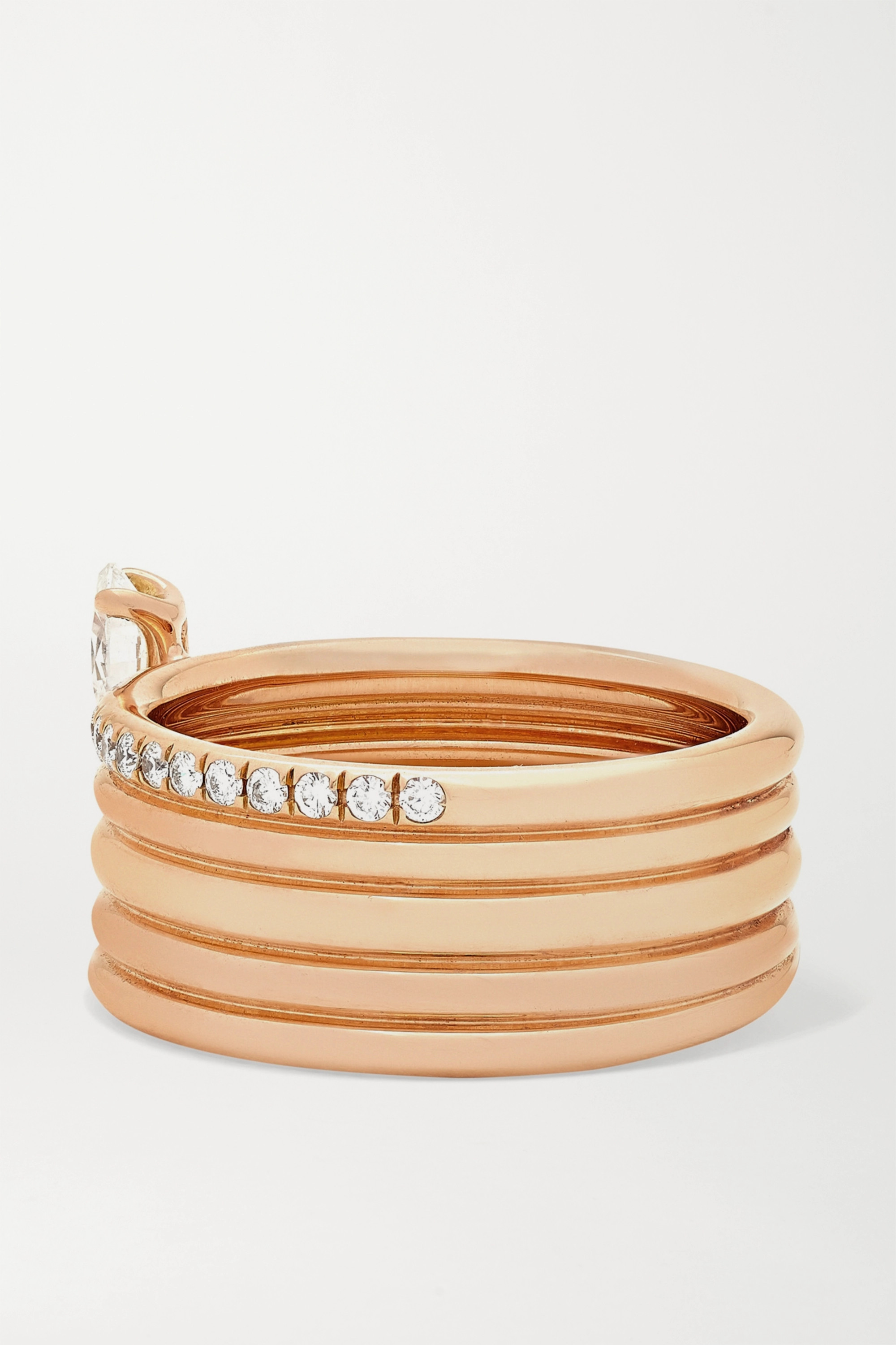 Repossi Blast 18-karat rose gold diamond ring