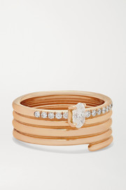 Blast 18-karat rose gold diamond ring