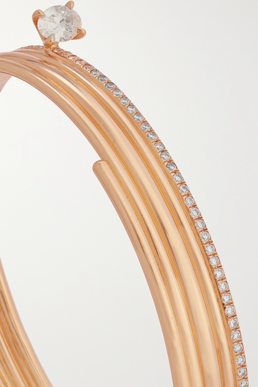 Repossi Blast 18-karat rose gold diamond bracelet