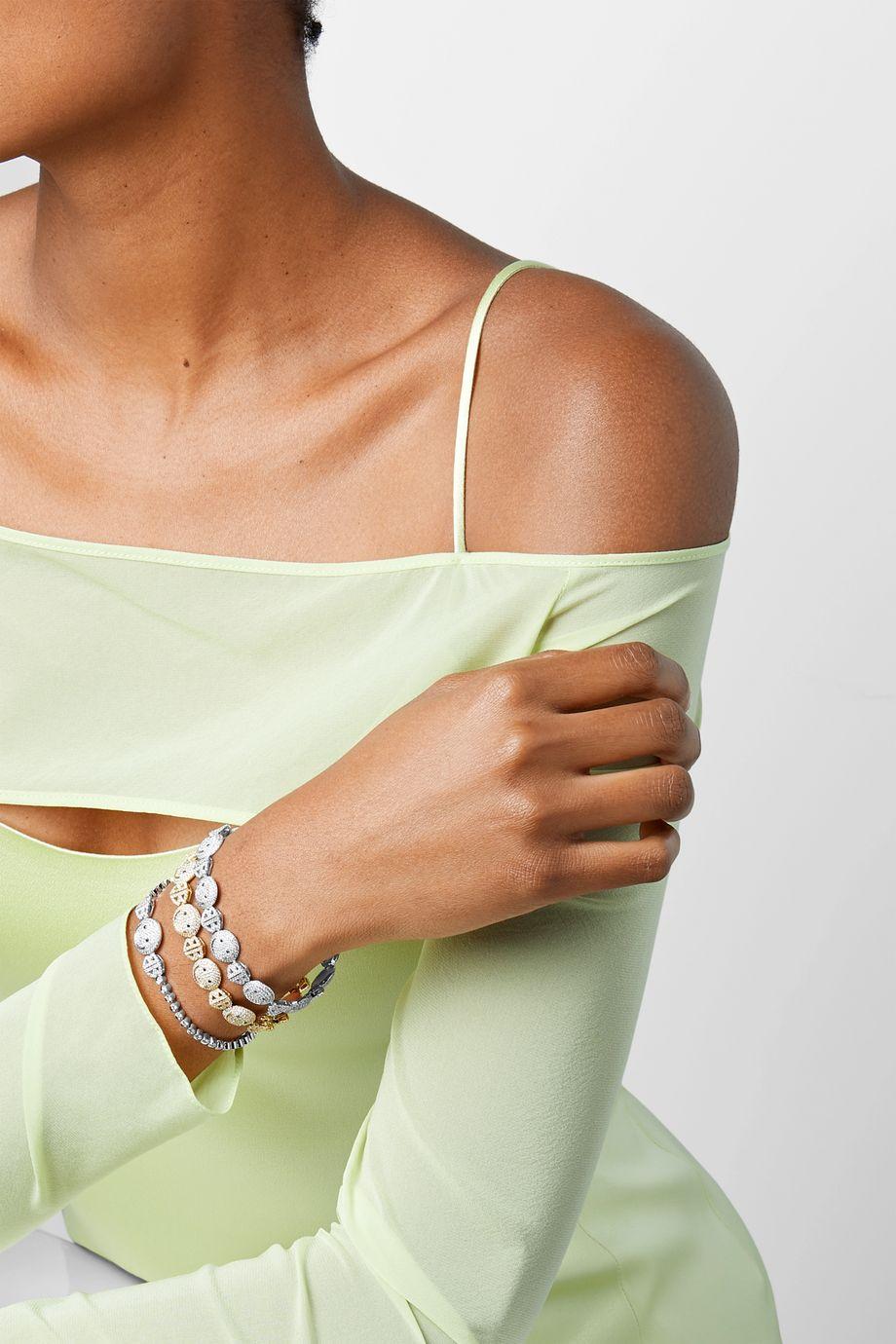 Lorraine Schwartz 18-karat white gold diamond bracelet
