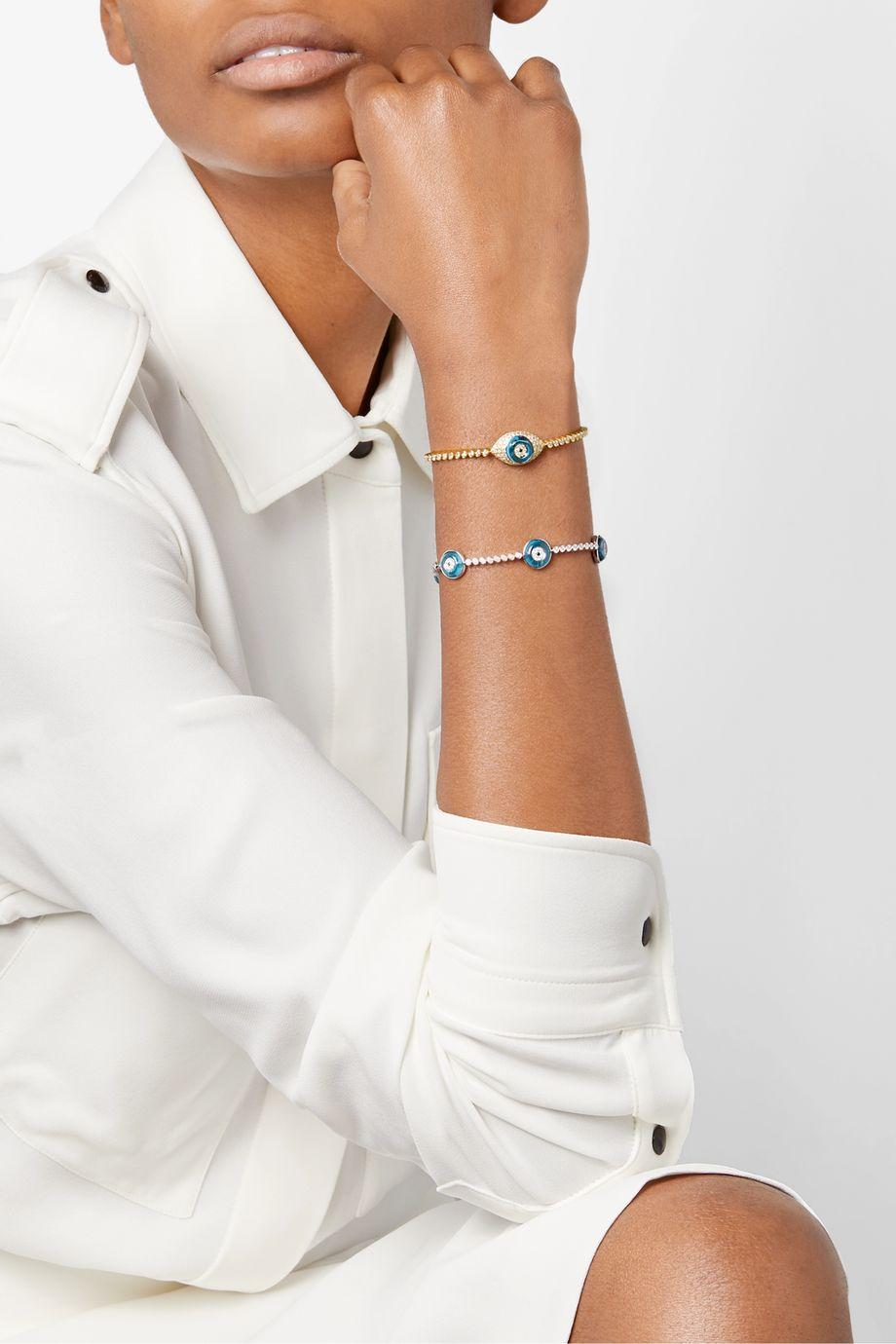 Lorraine Schwartz 18-karat gold multi-stone bracelet
