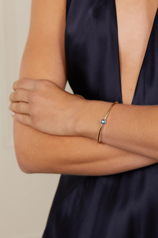 Lorraine Schwartz Armspange aus 18 Karat Gold mit Diamanten und Topasen