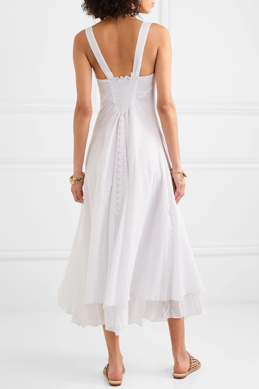 White Heart Crocheted Lace-paneled Cotton-blend Voile Dress | Charo Ruiz