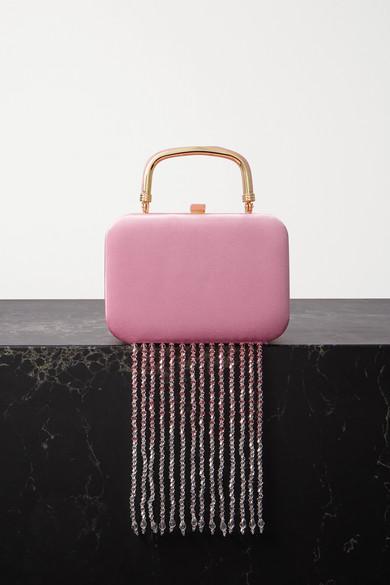 16ARLINGTON - Ralphie Crystal-embellished Satin Tote - Pink