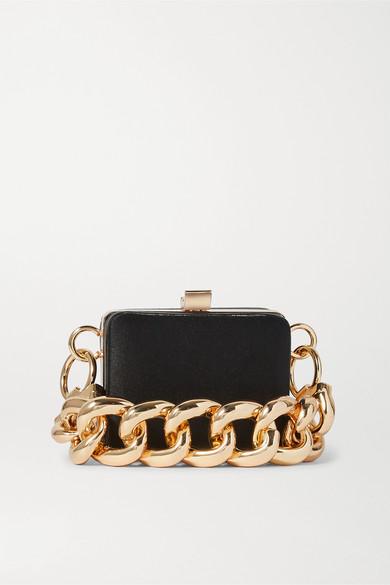 16ARLINGTON - Ralphie Mini Satin Shoulder Bag - Black