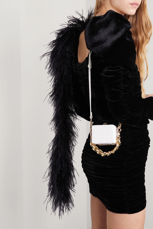 16ARLINGTON Ralphie mini ostrich-effect leather shoulder bag