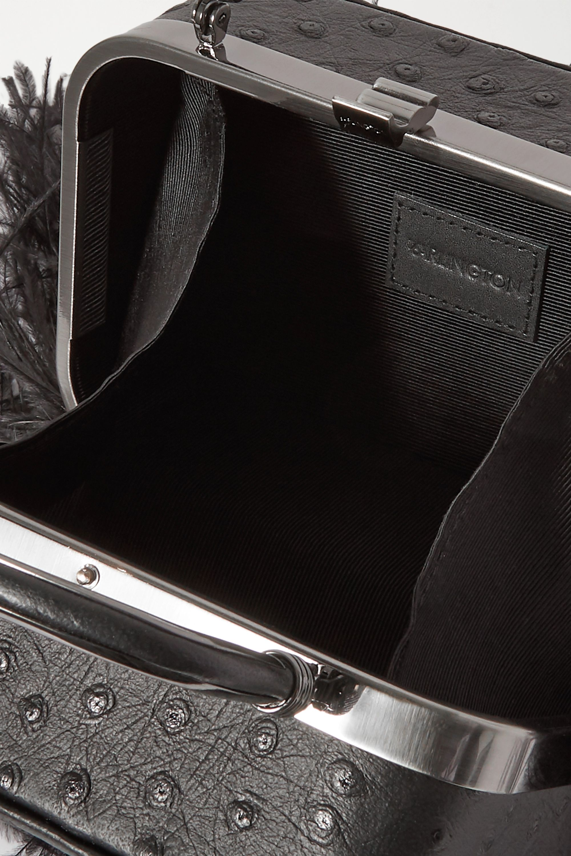 16ARLINGTON Sac à main en cuir effet autruche à finitions en plumes Ralphie
