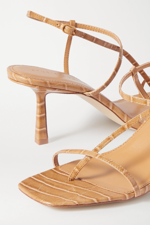 STUDIO AMELIA 2.5 croc-effect vegan leather sandals