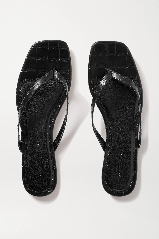 STUDIO AMELIA 2.2 croc-effect vegan leather flip flops