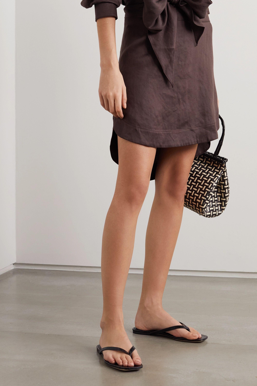 Black 2.2 croc-effect vegan leather