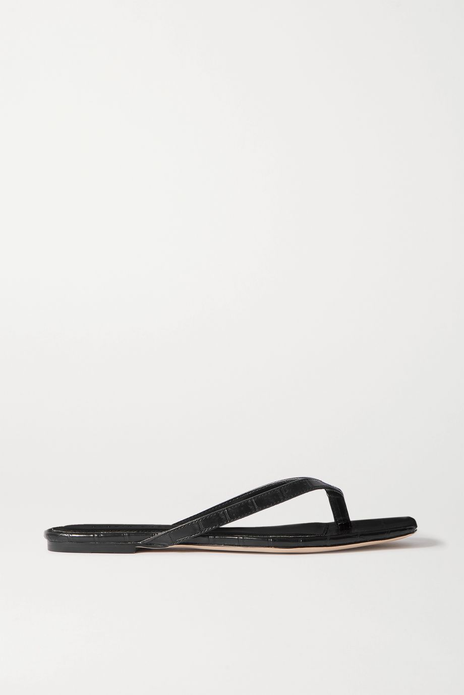 STUDIO AMELIA 2.2 croc-effect vegan leather flip flops