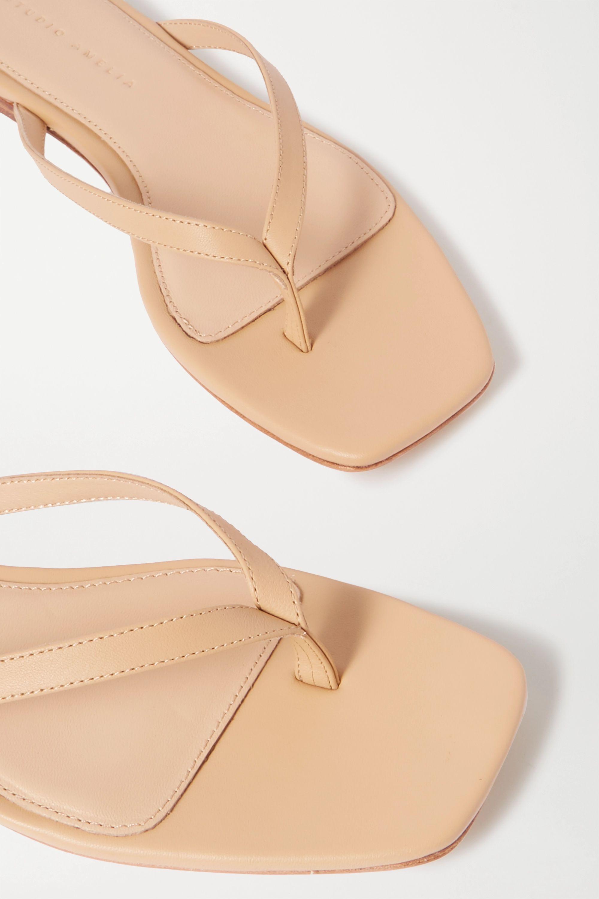 STUDIO AMELIA 2.2 leather flip flops