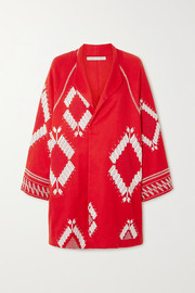 Rue Mariscal Embroidered cotton-voile jacket