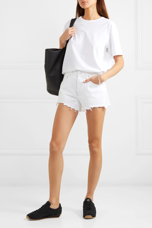 AGOLDE Parker frayed denim shorts