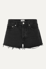 AGOLDE Parker frayed denim shorts