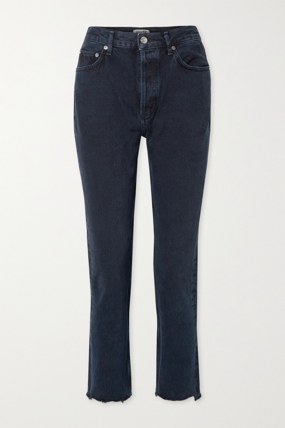 AGOLDE Remy cropped high-rise straight-leg jeans