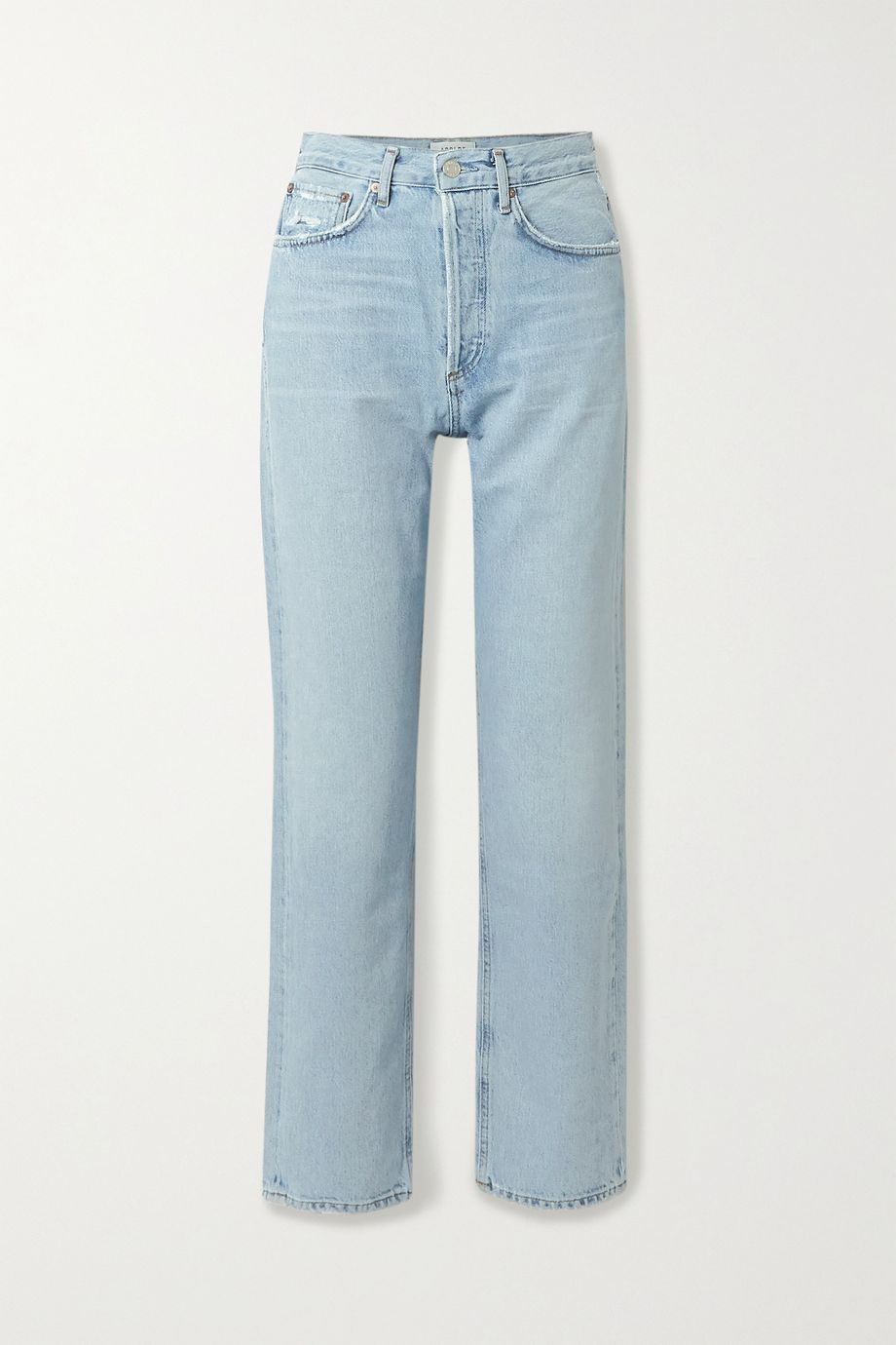 AGOLDE '90s distressed mid-rise straight-leg jeans