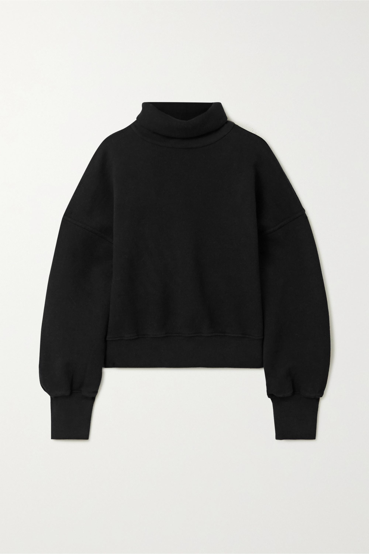 AGOLDE Cropped cotton-jersey turtleneck sweatshirt