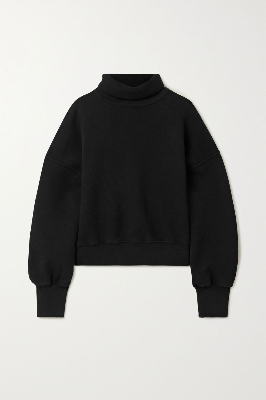 AGOLDE Cropped cotton-jersey turtleneck sweatshirt