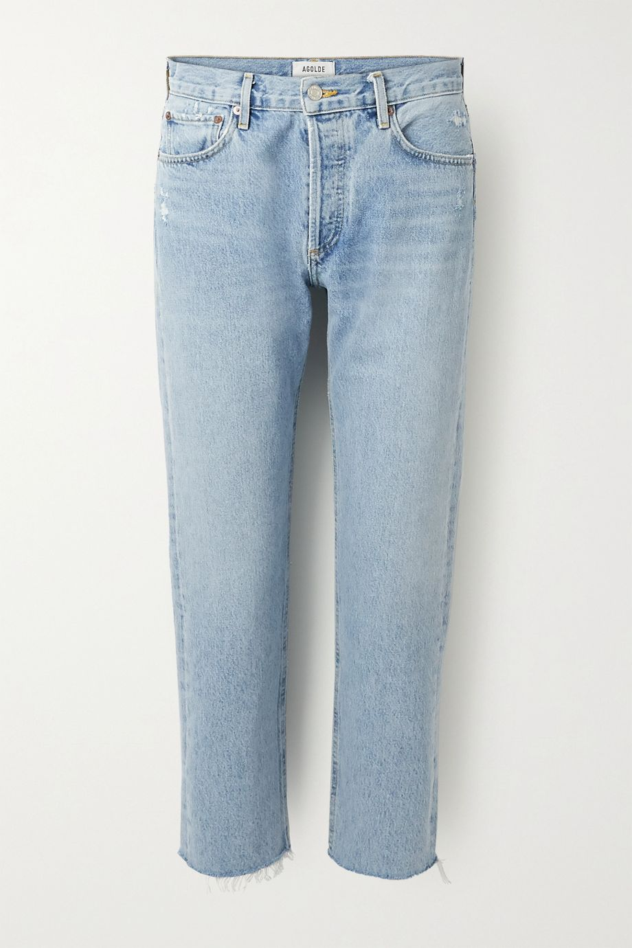 AGOLDE Parker cropped high-rise straight-leg jeans