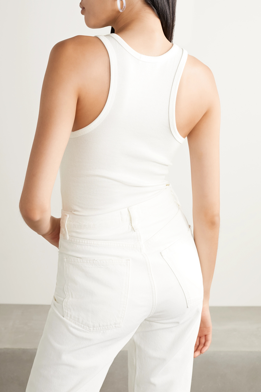 AGOLDE Ribbed stretch-jersey bodysuit