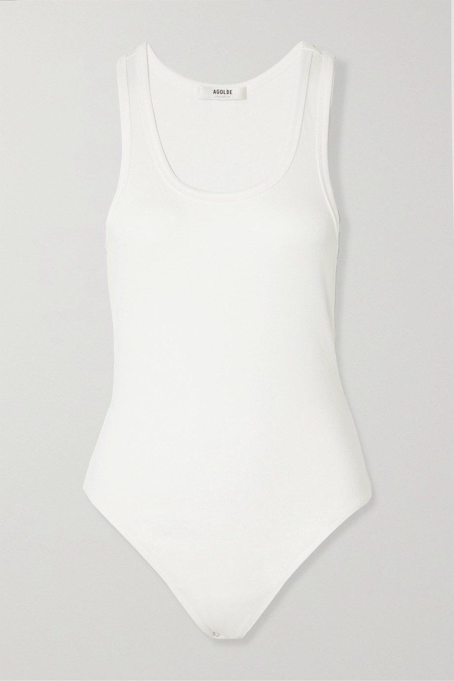 AGOLDE Ribbed stretch-jersey bodysuit