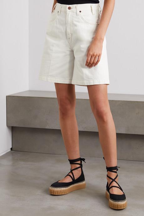 + NET SUSTAIN Rosa denim shorts