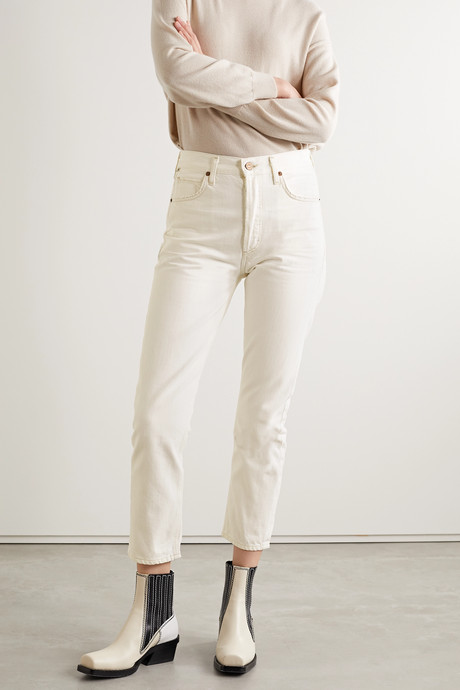+ NET SUSTAIN Charlotte cropped high-rise straight-leg jeans