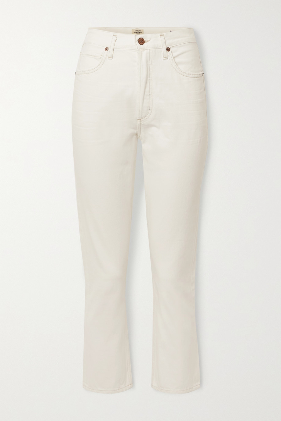 Citizens of Humanity + NET SUSTAIN Charlotte cropped high-rise straight-leg jeans