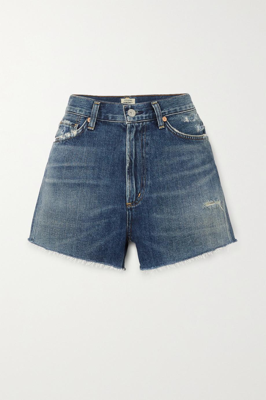 Citizens of Humanity Kristen frayed denim shorts