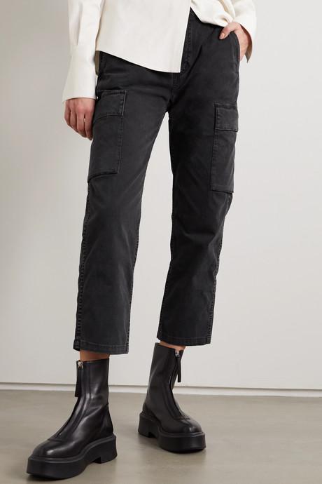 Gaia cotton-blend twill straight-leg cargo pants