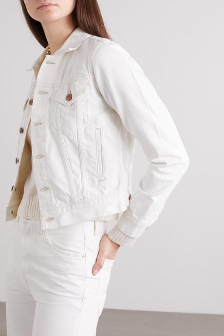 + NET SUSTAIN Nica distressed denim jacket