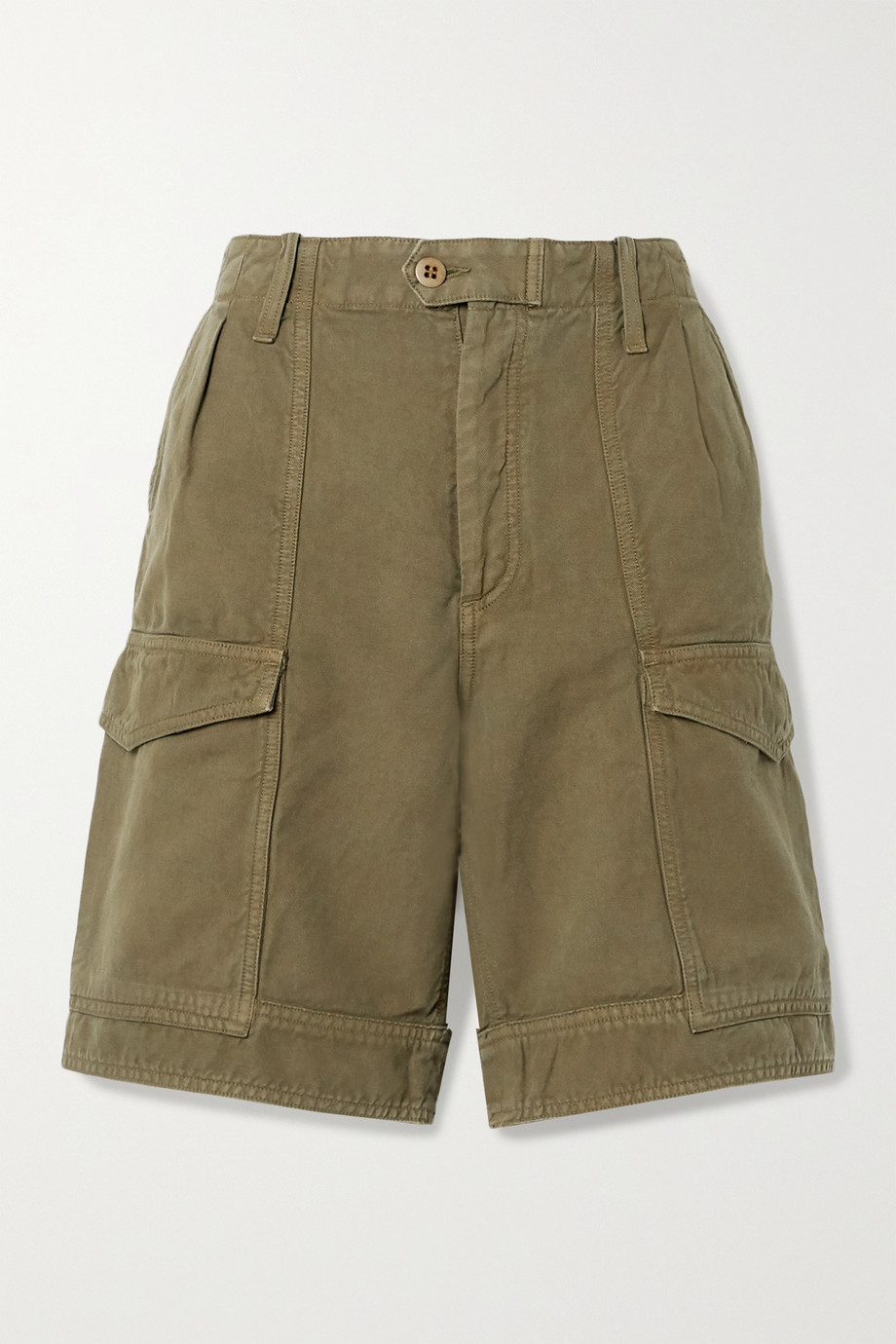 Citizens of Humanity Lily cotton and linen-blend twill shorts