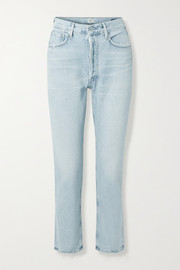 Citizens of Humanity Charlotte distressed high-rise straight-leg jeans