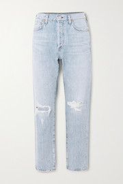 Citizens of Humanity Liya distressed high-rise straight-leg jeans