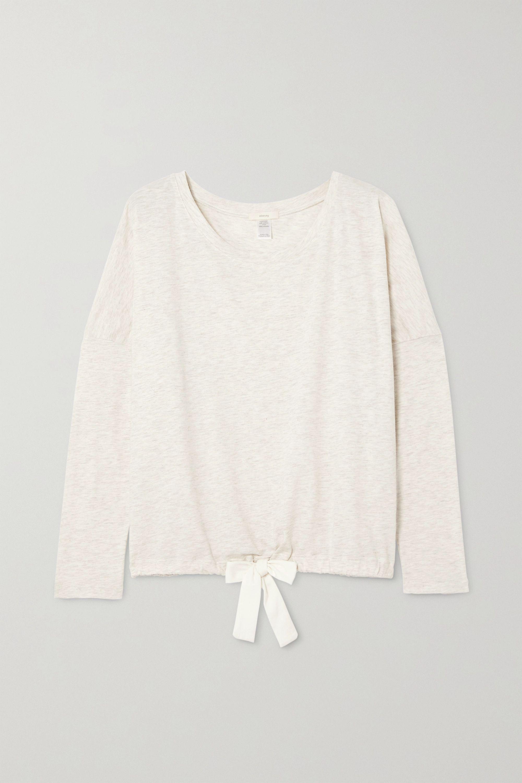 Eberjey Heather cotton-blend jersey pajama top