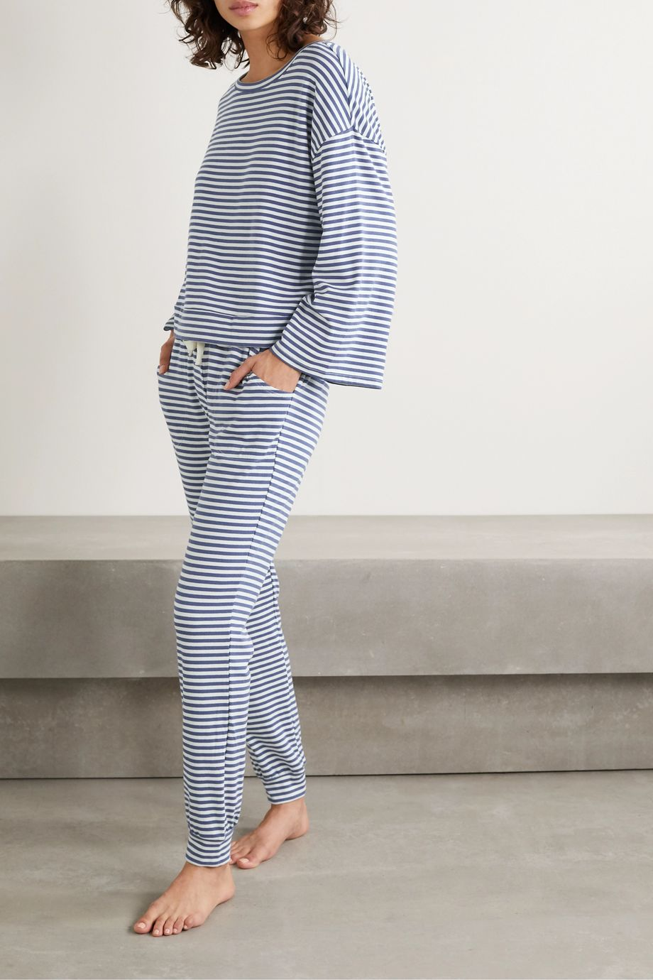Eberjey Quincy Icon striped jersey pajama set