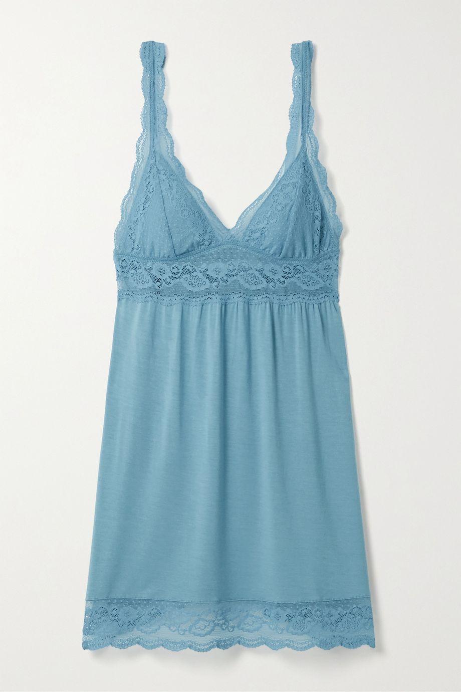 Eberjey Anouk lace-trimmed stretch-modal chemise