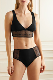 Eberjey Antoinette stretch-modal and lace soft-cup bra